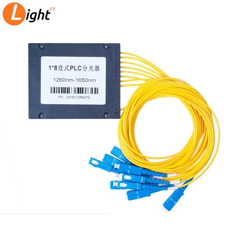 Plc Splitter SC UPC / 1x8 Single Mode LC Fiber Optic Splitter Fiber Splitter FBT Optical Couple