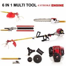 GX35 MOWER  6 in 1 Multi tool Brush cutter 4 stroke Petrol strimmer Grass cutter Tree Pruner hedge trimmer