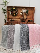 Soft Cotton Woven Wool Rug Pattern Coral Pique Tv Blanket Sofa Cover Warm Warming Blanket