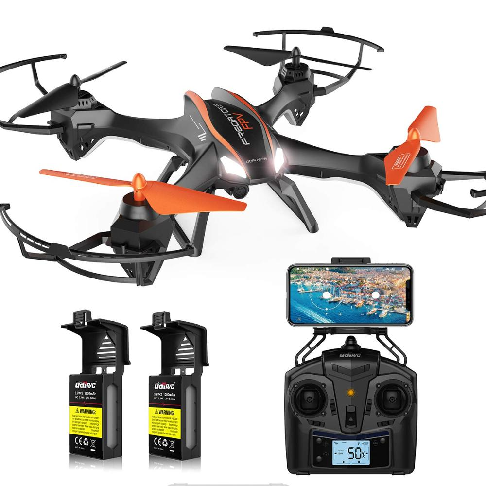 DBPOWER Predator U842 FPV Quadcopter Drone with HD Camera for Beginners and Kids, Big Size Black for Outdoor Use-in RC Airplanes from Toys & Hobbies