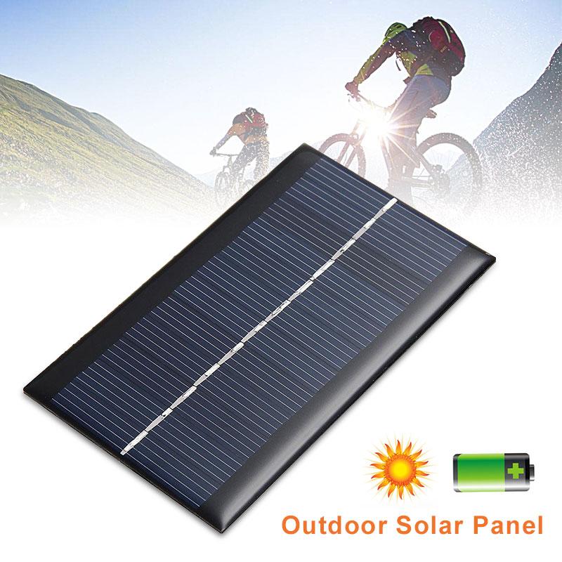 Солнечная панель 5V 0,5 w Солнечная система DIY для аккумуляторов Зарядные устройства для мобильных телефонов портативная солнечная панель 5V 1w зарядное устройство Оптовая продажа
