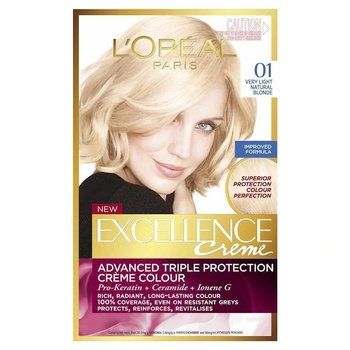 Loreal Excellence farba do włosów 01 Ultra Light Natural Yellow 247234492 tanie i dobre opinie