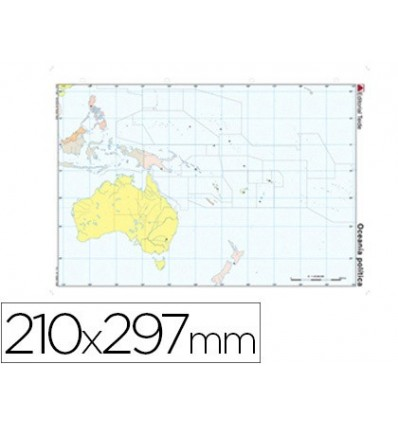 MAP MUTE COLOR DIN A4 OCEANIA-POLITICO 100 Units