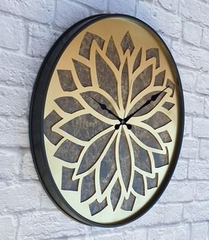 Markakanvas metalowy marmurowy wzór złoty (złoty) kolorowy zegar ścienny tanie i dobre opinie TR (pochodzenie)