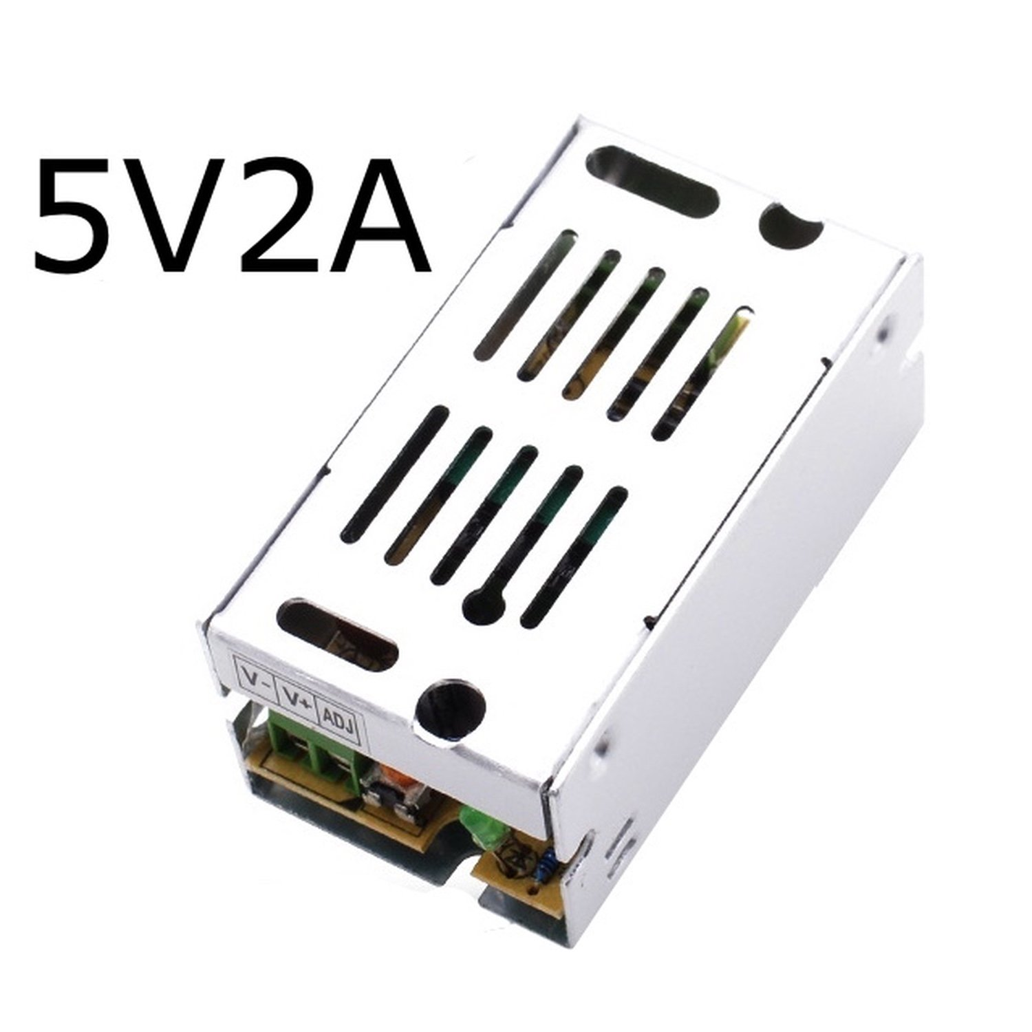 5v 2A Dc Universal Regulated Switching Power Supply 10w for CCTV, Radius, Computer Project, Led jrled 10w 200lm 465nm blue light led emitter w power supply driver board