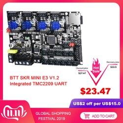 Bigtreetech skr mini e3 v1.2 placa de controle 32 bits integrado tmc2209 uart 4 peças drivers para ender 3 pro painel 3d peças impressora