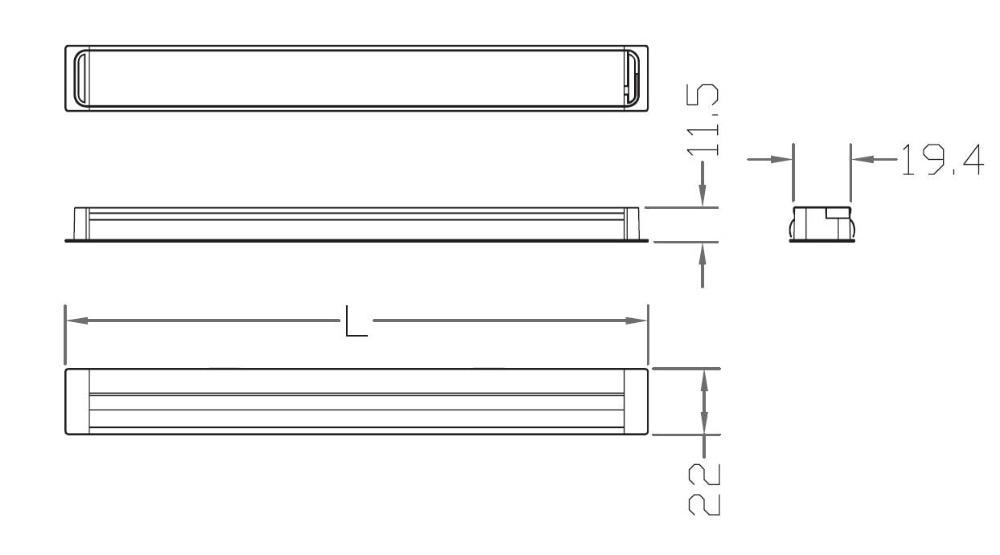 led light bar size