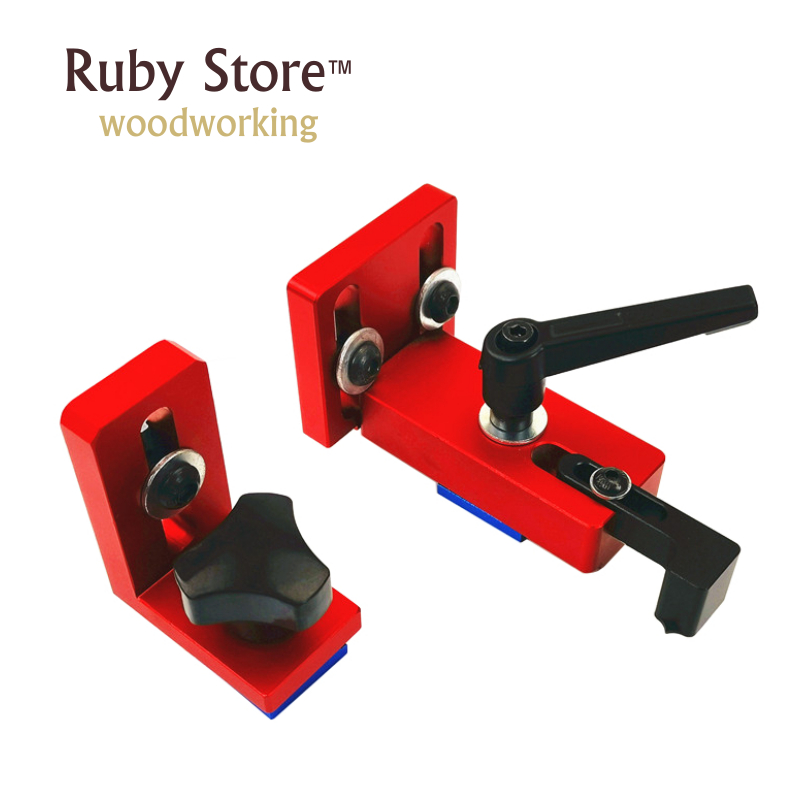 Set Of 2PCS T-track Sliding Brackets (Red Series), T-tracks Not Included