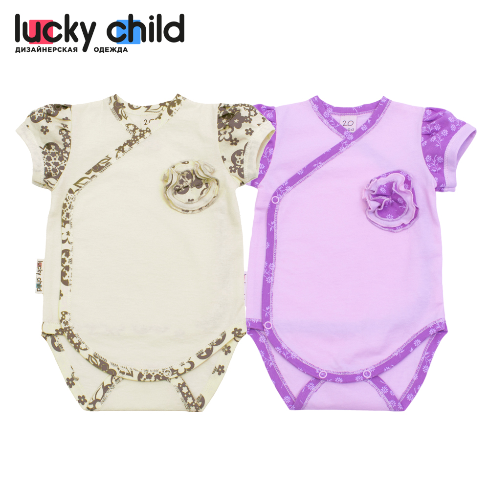 Bodysuits Lucky Child for girls 11-51 Flowers Body Newborns Babies Baby Clothing Children clothes tank tops made in russia bodysuits lucky child for boys 30 113 3 newborns tanks tops babies baby clothing children clothes made in russia