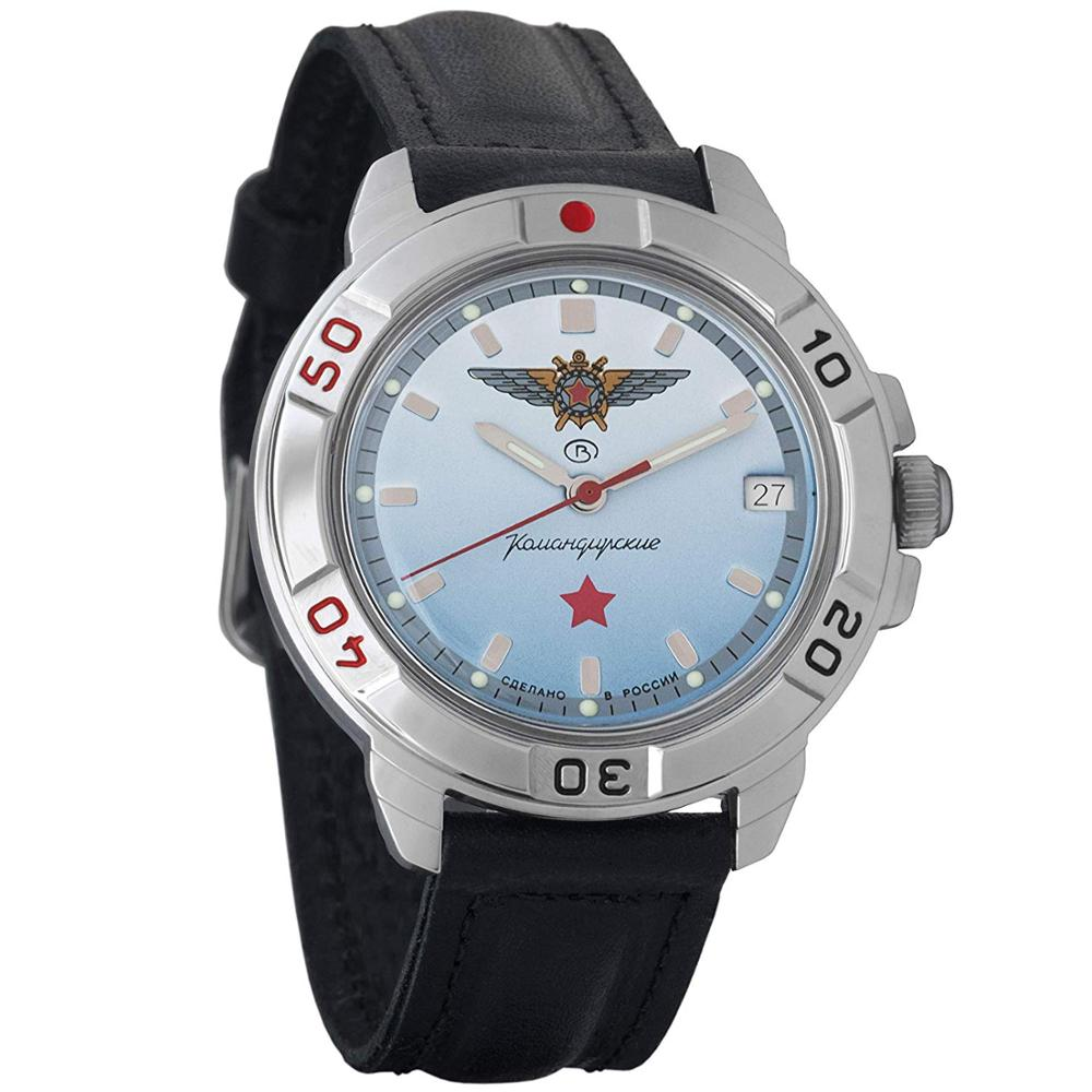 Watch Vostok Komandirskie 431290 Russian Mechanical Men's Military Watch With Hand-winding With Red Star