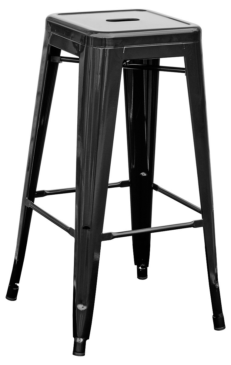 Stool TOL, Steel, Black