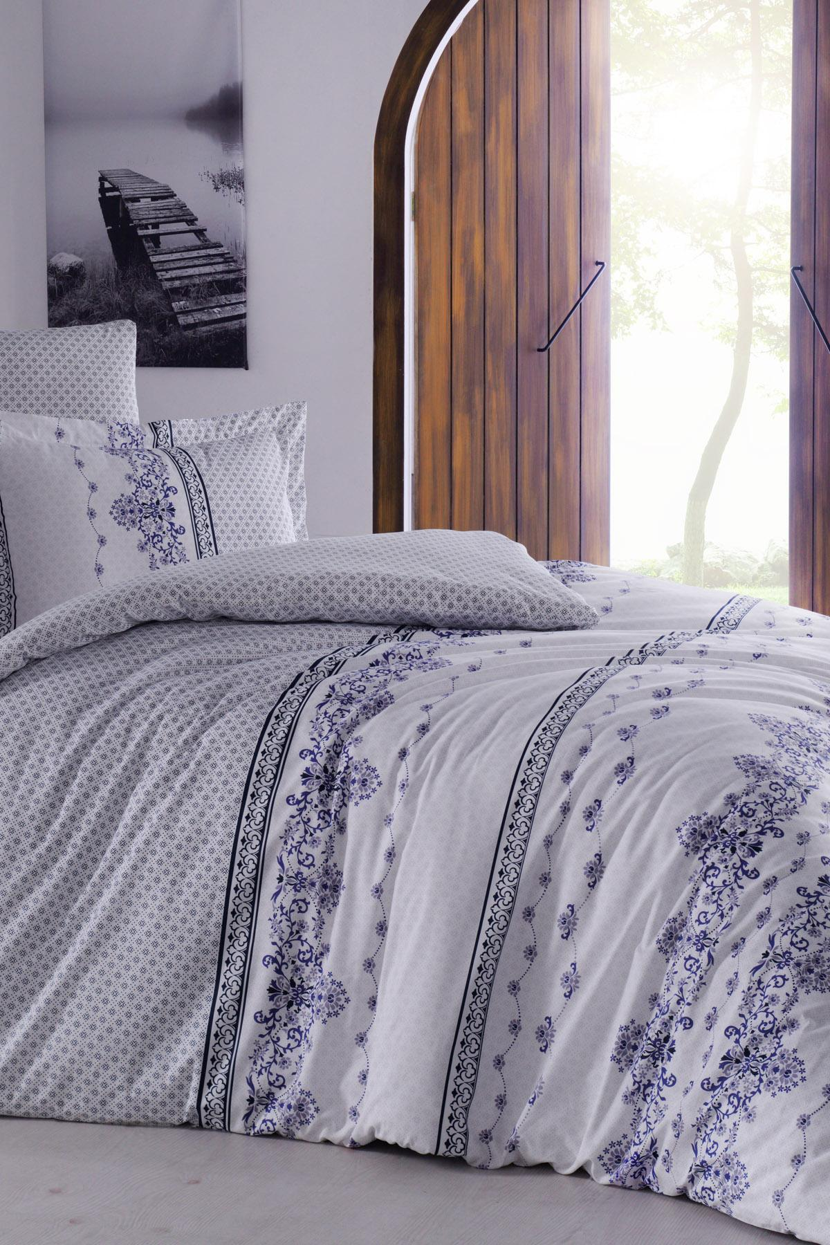Bedding Set Fitted Sheet With 100% Cotton | Luxury Ranforce Bed Linen Set 3 Pcs Duvet Cover Set From Turkey Mania