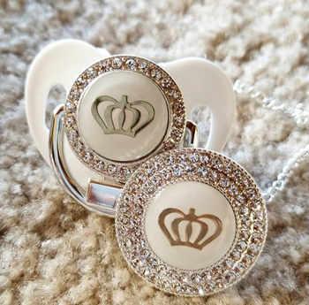 MIYOCAR 11 farbe silber bling gold crown bling schnuller und schnuller clip BPA FREI dummy bling einzigartige design GCR2-1