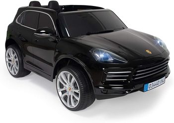 INJUSA-Porsche Cayenne S 12V electric car with remote Control, rear suspension and door opening, for children + 3 years injusa garden house of logs the hut multicolor with 2 windows and folding door recommended to children 2 years