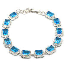 11x9 мм Большой 16g синего и серебряного цвета браслет для Для