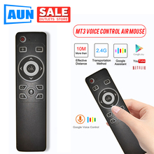 AUN 2020 Newest MT3 Gyro Smart Voice Remote Control IR Learning 2.4G Wireless Fly Air Mouse for D60s X96 Mini H96 MAX  TV Box