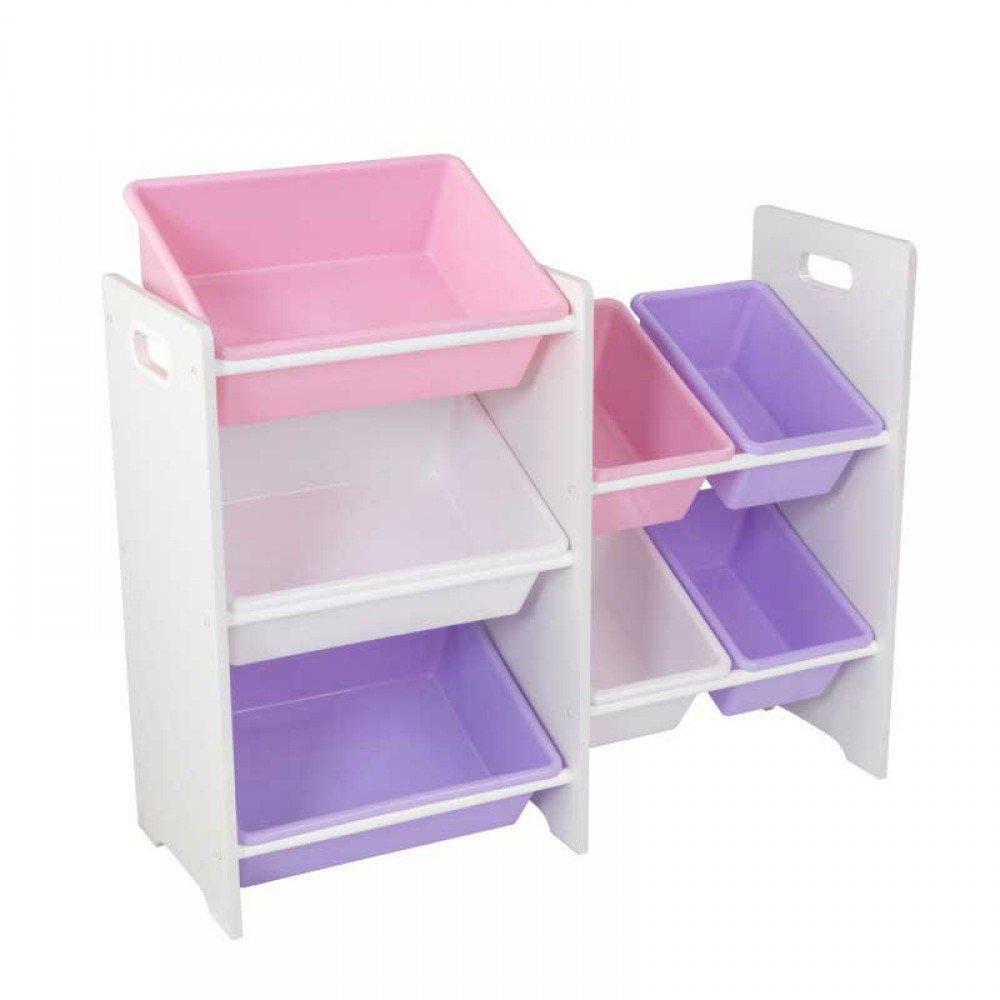 Children Cabinets KidKraft  Storage System With 7 Containers White Children's Furniture For Kids Toy Rack Storage System Toy Box Dresser Toy Cabinet