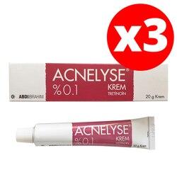Acnelyse Creme Tretinoin 0.1% 20 GR (3 PACK) EXP:2024-Akne Behandlung, Feine Falten, gesicht Schäden Verursacht durch die Sonnenstrahlen