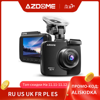 AZDOME GS63H Car Dash Cam 4K 2160P Dash Camera Dual Lens Built in GPS DVR Recorder Dashcam With WiFi G-Sensor Loop Recording image