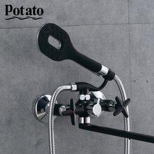 Potato Bathtub Faucets Shower Set Shower Head Bathroom Dual Control Shower Bathtub Faucet Bath Faucet p22322-