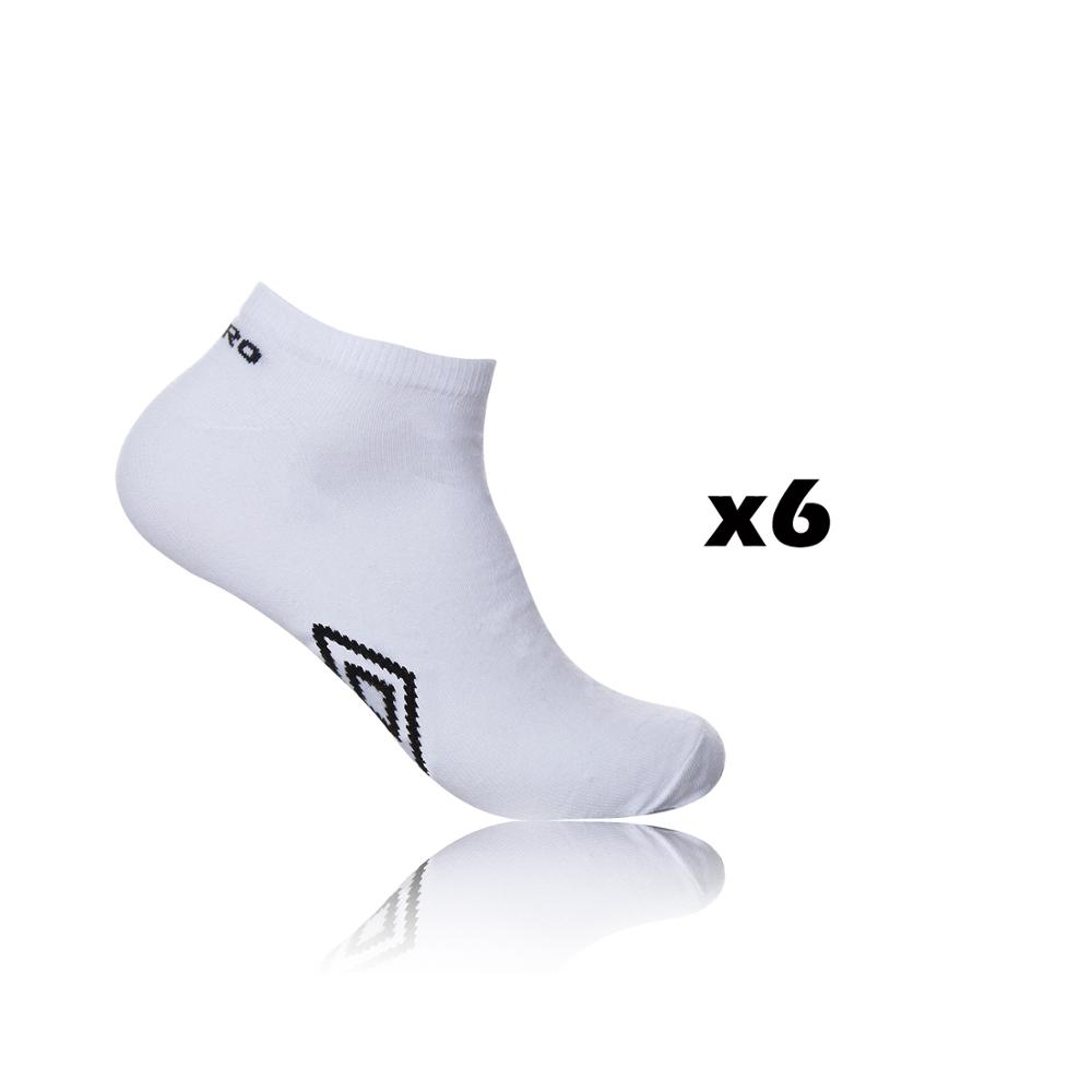Pack 6 Pairs Ankle Socks UMBRO In White Color