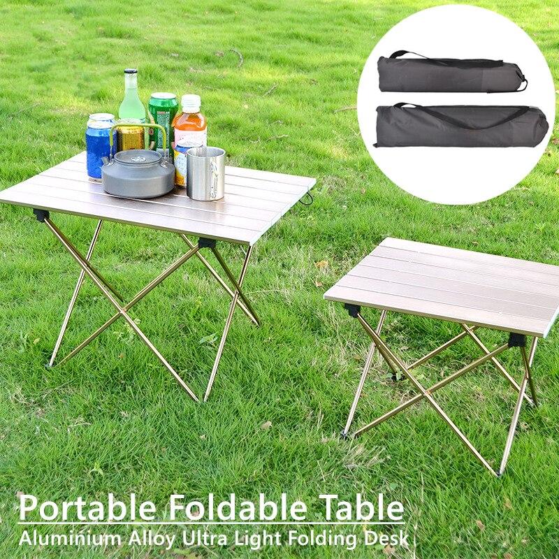 1pcs Portable Camping Folding Table Outdoor Hiking Picnic Ultra-light Aluminum Alloy Desk