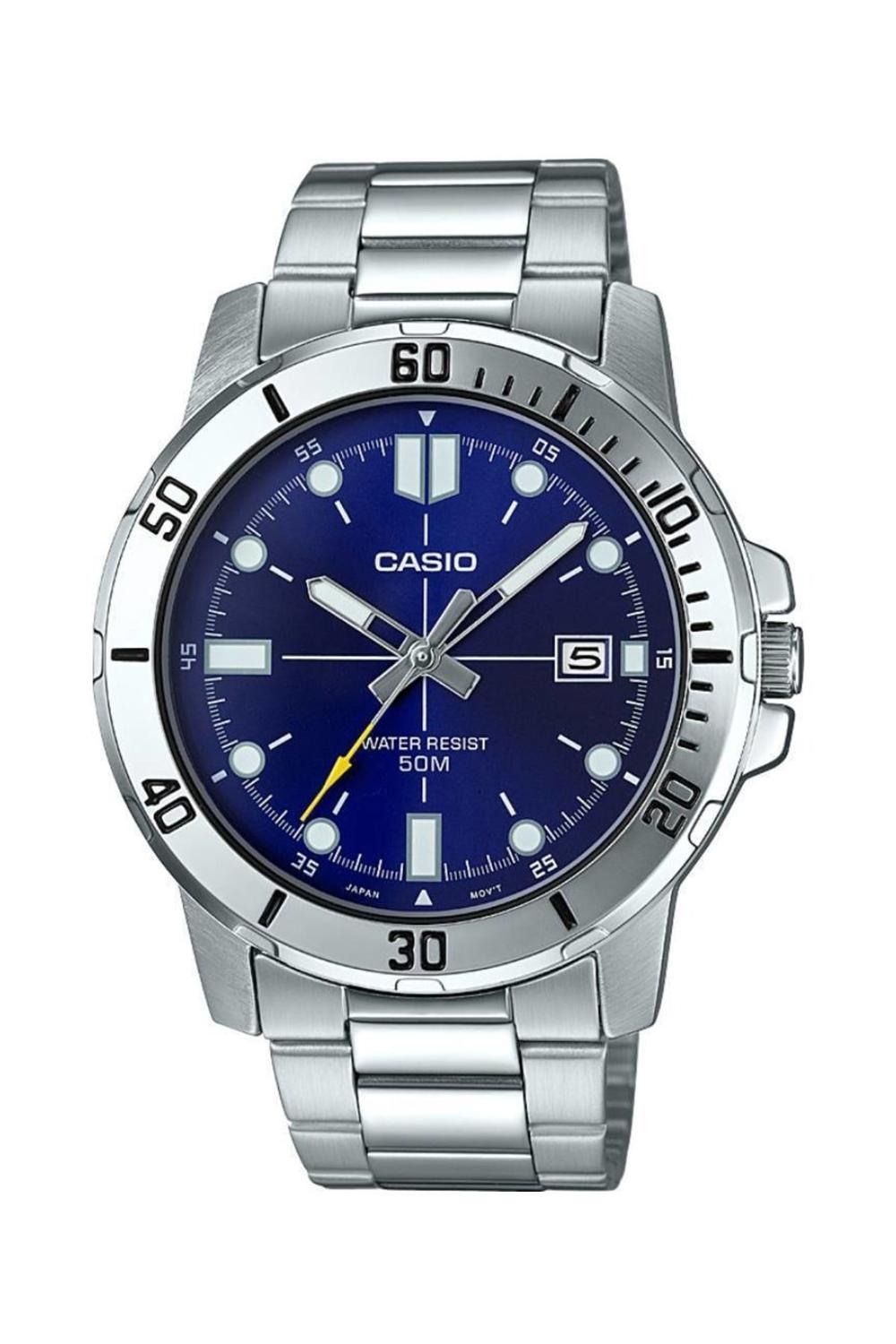 Casio Watch Men Brand Luxury 50 M.  Waterproof Chronograph Fashion Sport Military Watch  MTP-VD01D-2EVUDF