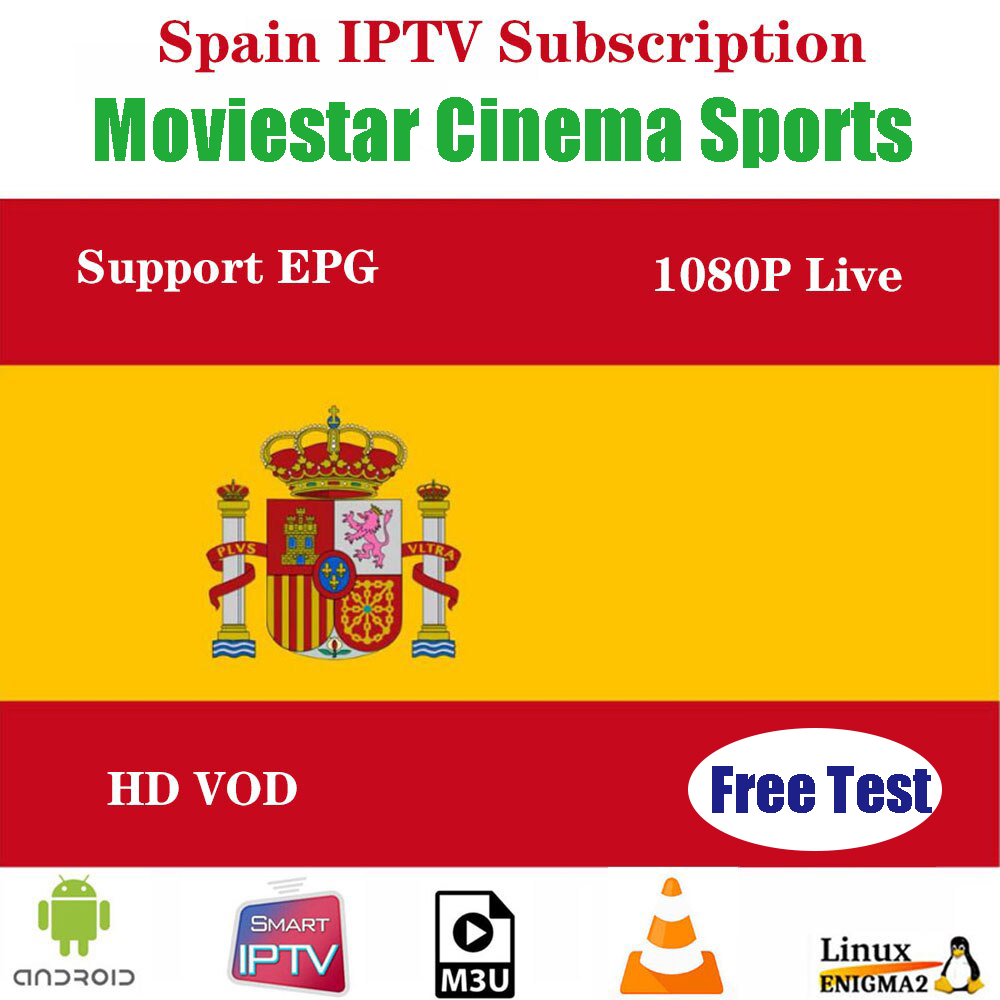 Spain IPTV Premium Subscription 1 year full HD spain 300+ local live IPTV espa a M3u smart tv free test(China)