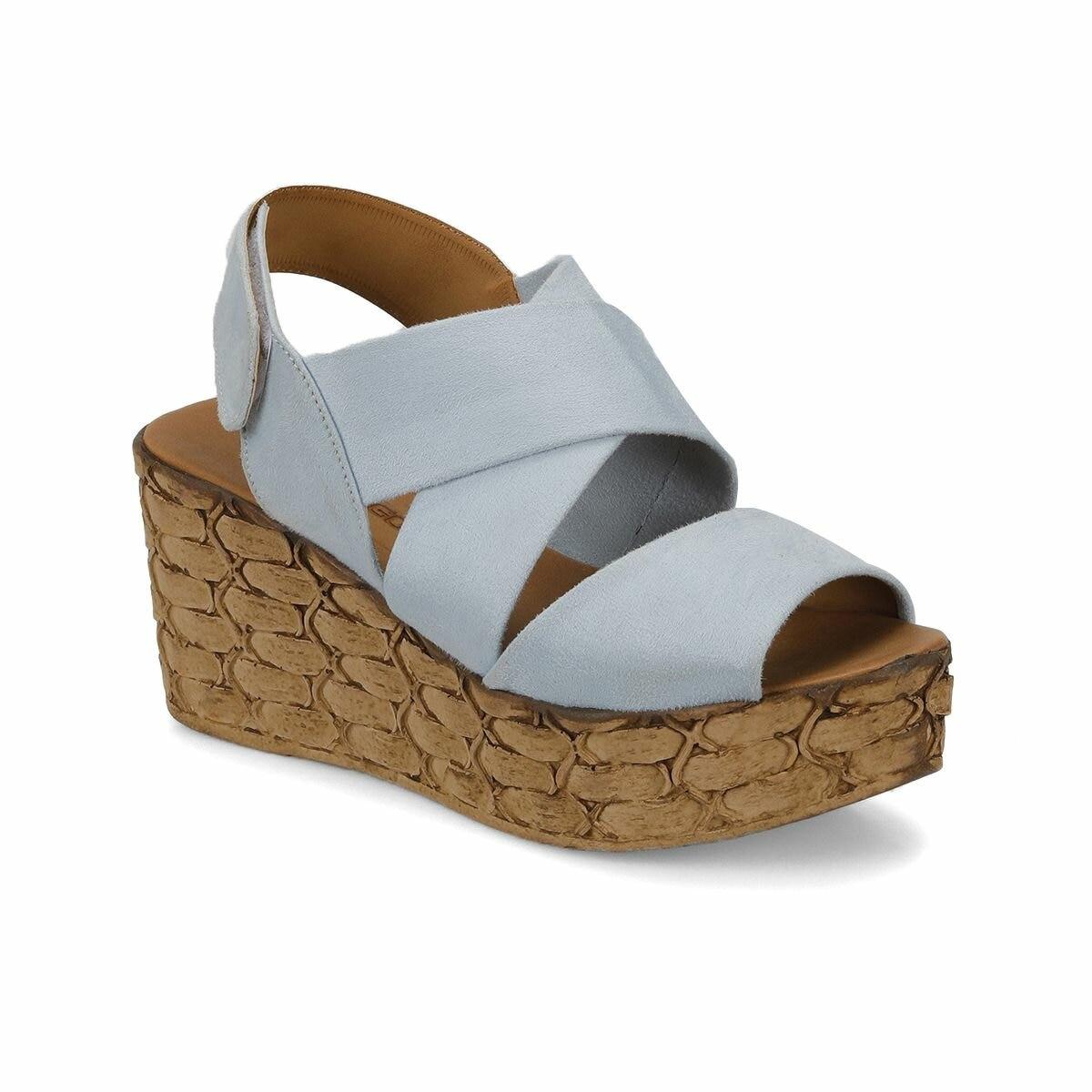 FLO NUDE * 68Z Light Blue Women Sandals BUTIGO