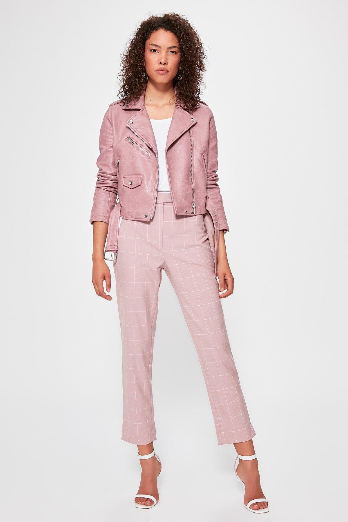 Trendyol Pink Lacing Detailed Pants TWOAW20PL0199