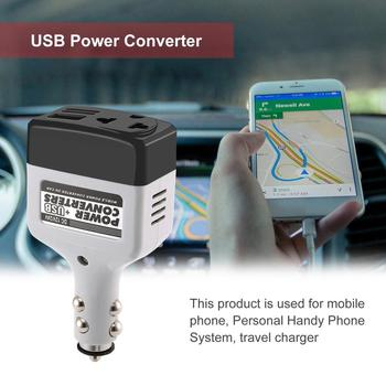 DC 12/24 V to AC 220 V/USB 6 V Car Power Inverter Adapter Mobile Auto Power Car Charger Converter With USB Interface image