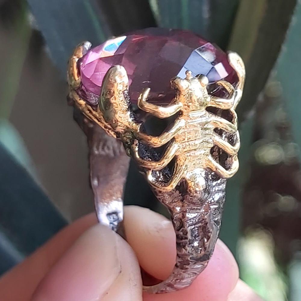 Diaspore Скорпион в форме ювелирные изделия из чистого серебра кольцо для женщин Zultanite S925 кольцо ручной работы дизайн