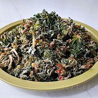 酸辣粉蒸野荠菜的做法图解9