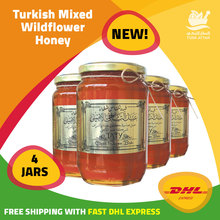 Turkish Mixed Wildflower Honey, 4×235 gr, FAST FREE SHIPPING WITH DHL