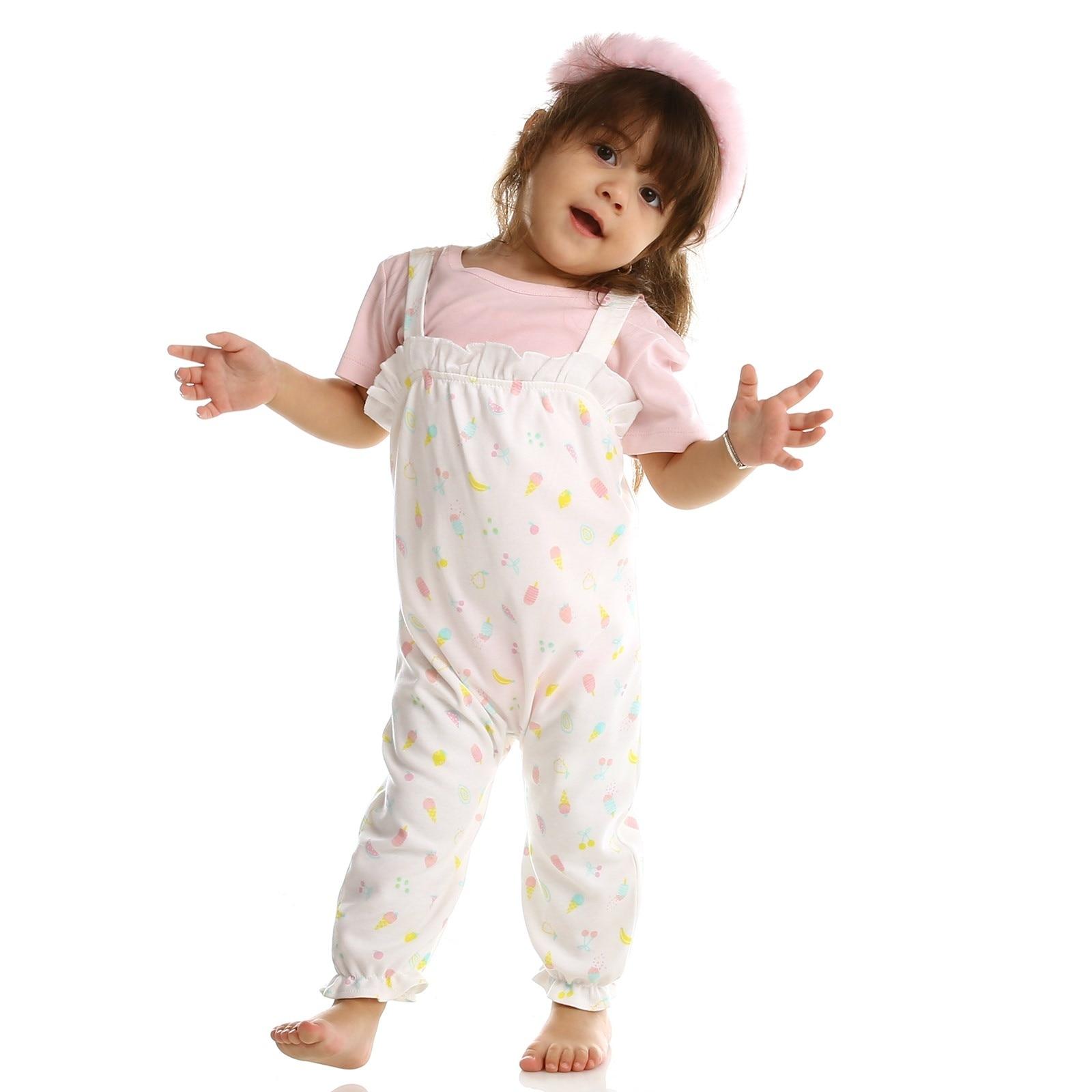 Ebebek HelloBaby Summer Baby Sweet Fruits Sweatshirt Dungarees Set