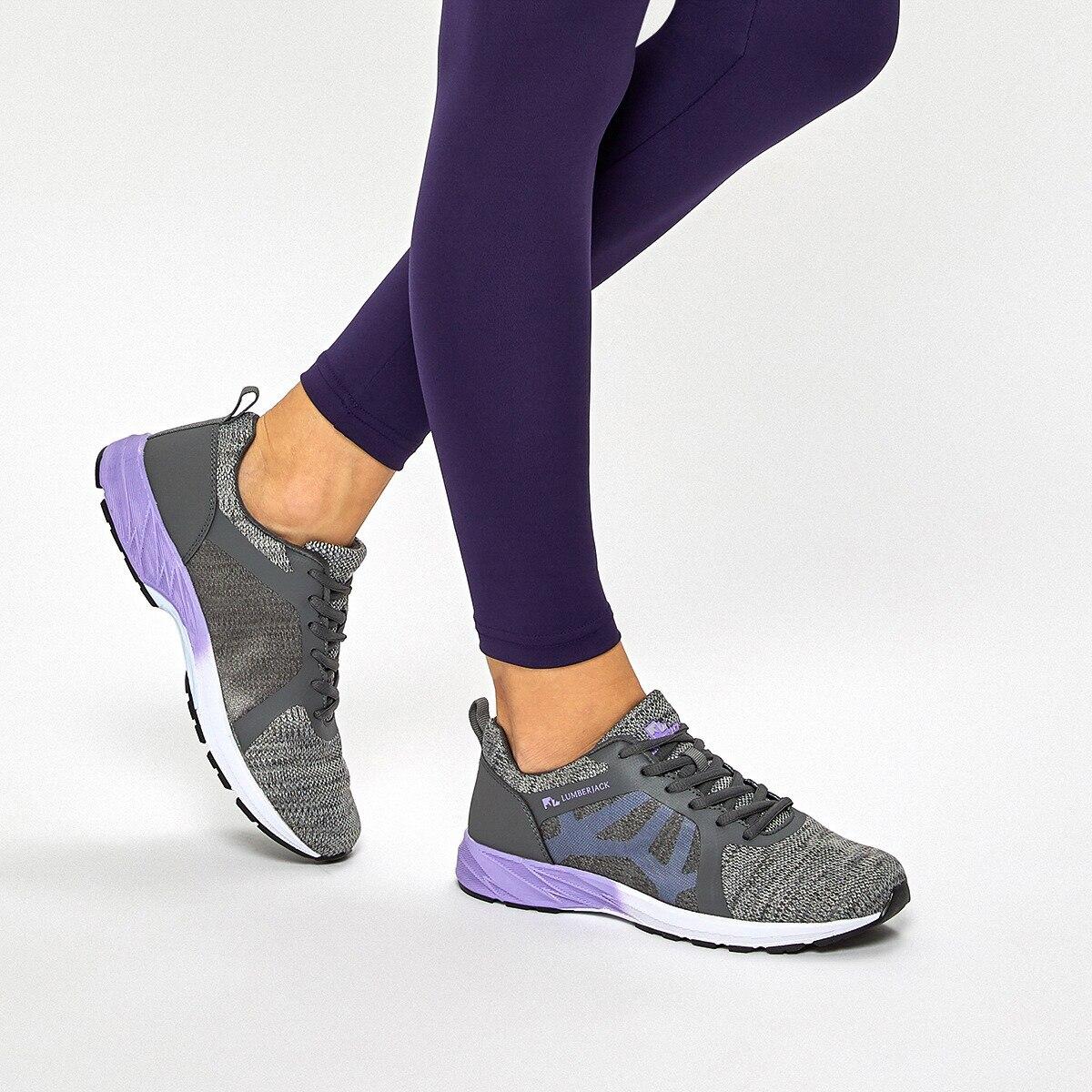 FLO GLINK 9PR Dark Gray Women 'S Running Shoe LUMBERJACK