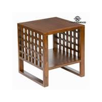 Seite Tisch Holz mindi (50x50x50 cm)  Die Sammlung Schokolade Craftenwood auf