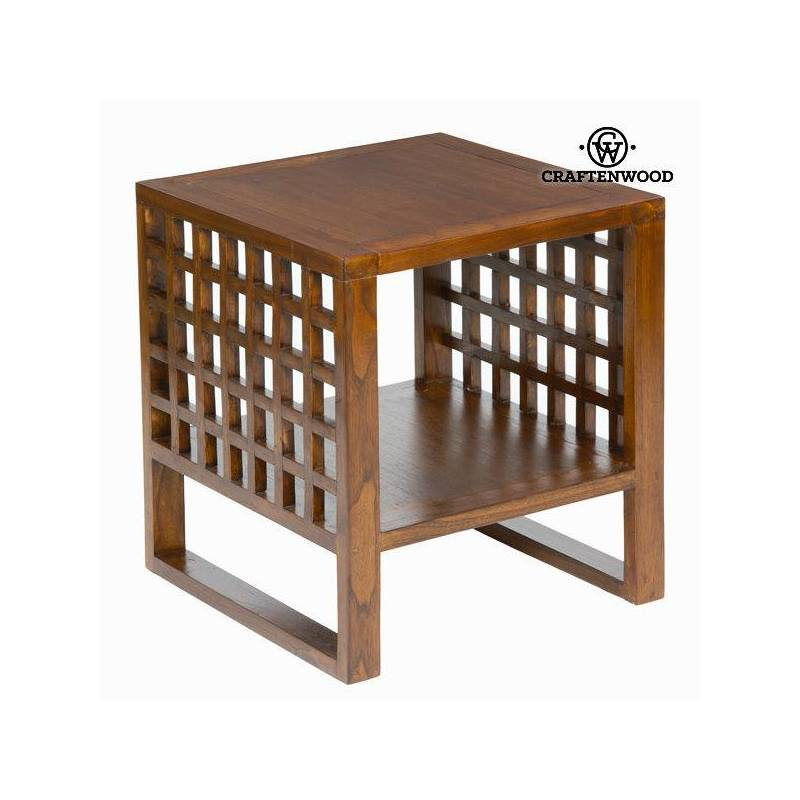 Side Table Wood Mindi (50x50x50 Cm)-The Collection Chocolate Craftenwood