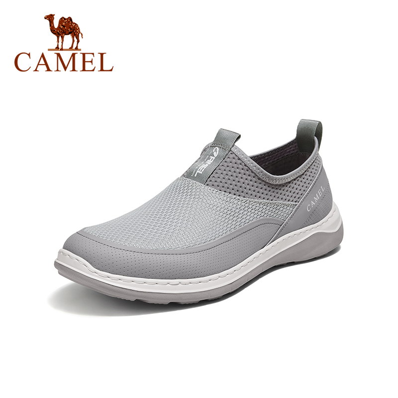 CAMEL 2021 New Summer Thin Breathable Casual Loafers Men's Shoes Net Sports Shoes Lightweight Comfortable Walking Shoes