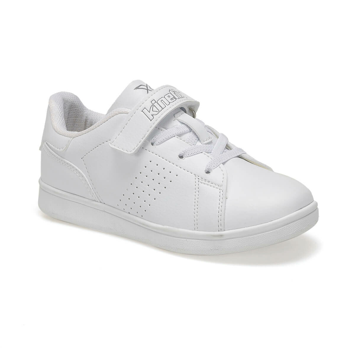FLO PLAIN J 9PR White Female Child Sneaker Shoes KINETIX