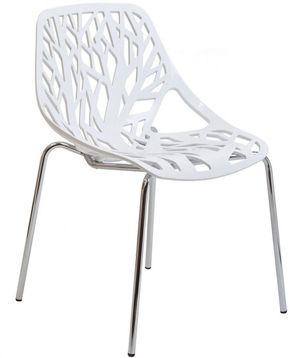 Chair RUM, Chrome White Polypropylene