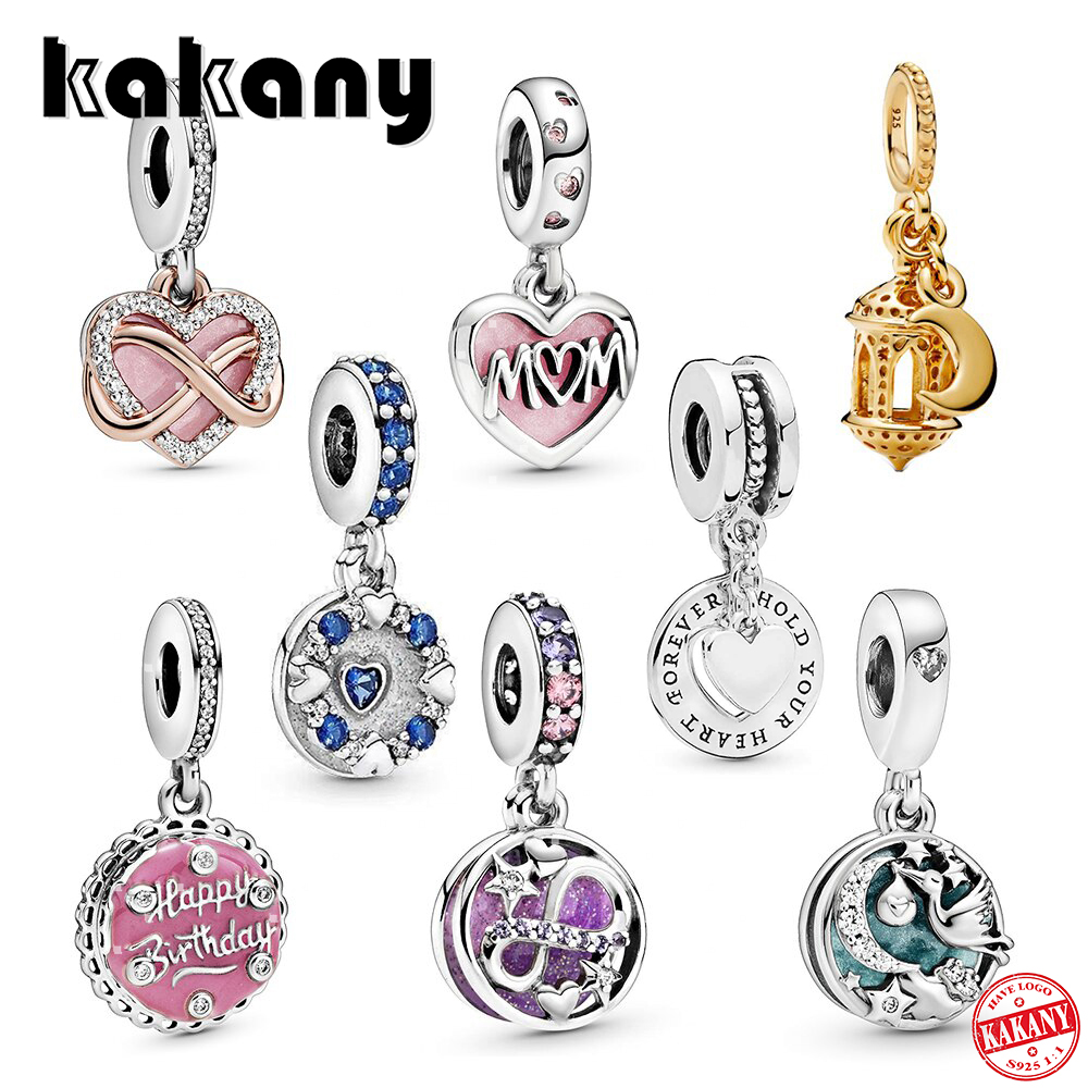 kakany New High-quality high quality Arabian Lantern, Infinite Heart Shape, Pink Birthday Cake Lady Diy Fashion Charm