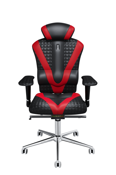 Office Chair KULIK SYSTEM VICTORY Black With Red Computer Relief And Comfort For The Back 5 Zones Control Spine