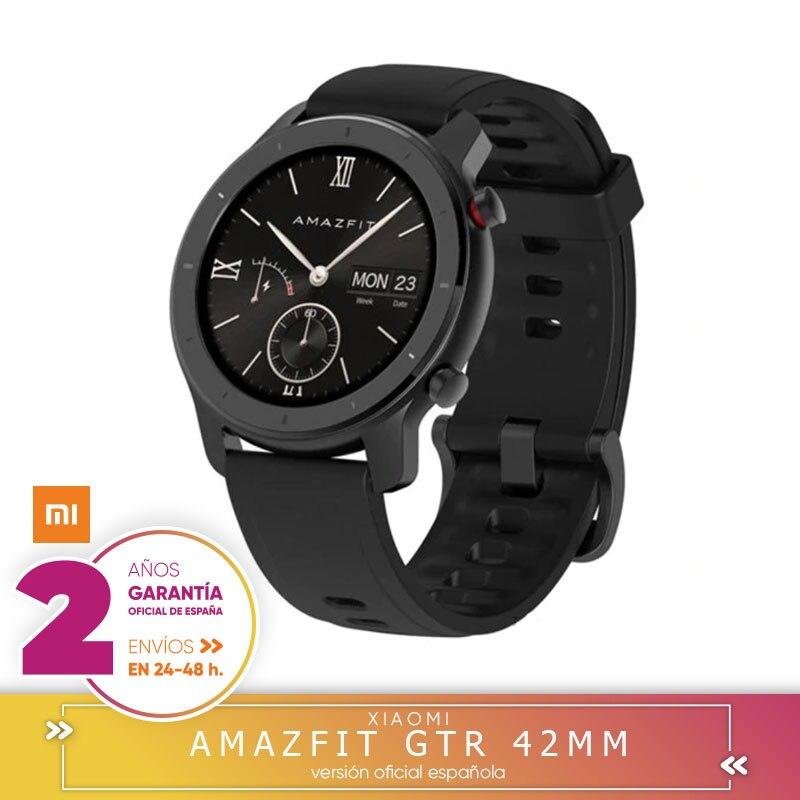 -Garantía Plaza-Amazônia GTR 42mm Versão global reloj inteligente Smartwatch GPS Controle de música Android Xiaomi teléfono IOS