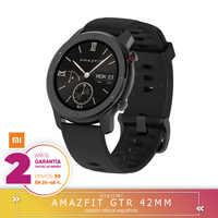 -Garantía Plaza-Amazfit GTR 42mm na całym świecie reloj inteligente Smartwatch GPS kontroli de muzyki z systemem Android Xiaomi usługi telefonii z systemem IOS