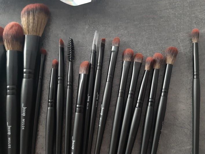Jessup New Arrival Makeup brushes brushes Phantom Black 3-21pcs Foundation brush Powder Concealer Eyeshadow Synthetic hair reviews №1 337683