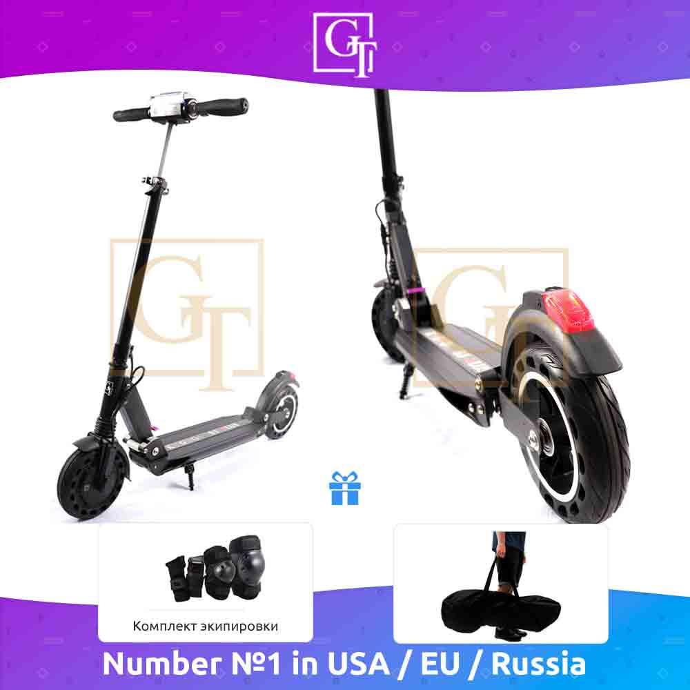Электрический скутер s3 pro kugoo GT, 500 W максимальная мощность, для взрослых и детей. Батарея электрического самоката 8.8 Ah