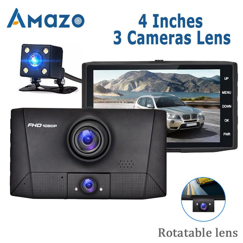 Car DVR 3 in 1 Dvr dash Camera Car video surveillance Auto Video Recorder Registrator 2 Cameras 170 Wide Angle Dash Cam