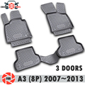 Floor mats for Audi A3 (8P) 2007~2013 rugs non slip polyurethane dirt protection interior car styling