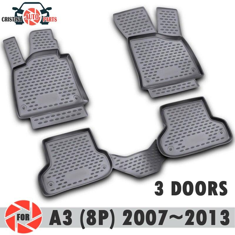 Tappetini per Audi A3 (8 P) 2007 ~ 2013 tappeti antiscivolo poliuretano sporco di protezione interno car styling
